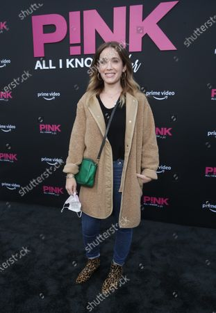 """Marla Sokoloff attends Amazon Studios """"Pink: All I Know So Far"""" Premiere on Monday, May 12, 2021 at the Hollywood Bowl in Los Angeles."""