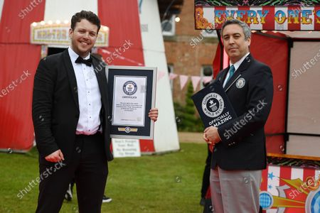 James Bennewith receives his Guinness Book of Records Award for a NEW World Record