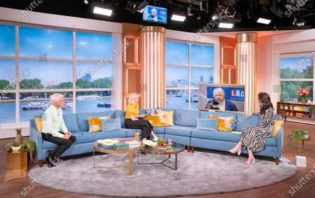 Phillip Schofield and Holly Willoughby with Nicola Thorp