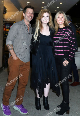 Stock Picture of Zack Snyder, Grace Randolph and Deborah Snyder