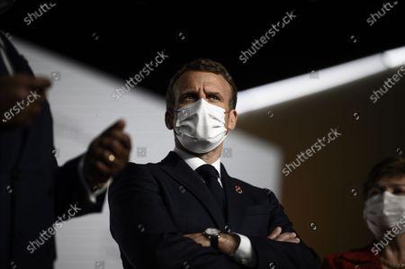 French President Emmanuel Macron speaks