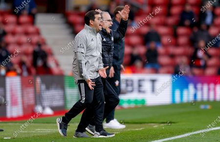 Leeds United Manager Marcelo Bielsa  during the Premier League match between Southampton and Leeds United at the St Mary's Stadium, Southampton