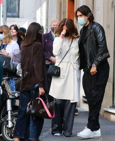 Editorial image of Roberta Armani and Giuseppe Vicino out and about, Milan, Italy - 13 May 2021