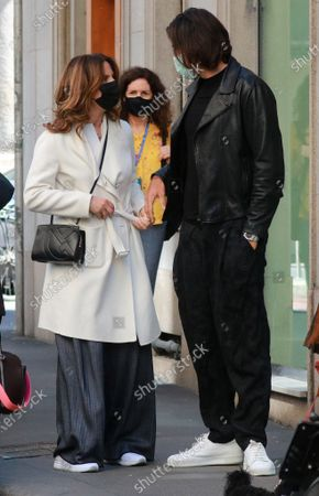 Editorial picture of Roberta Armani and Giuseppe Vicino out and about, Milan, Italy - 13 May 2021