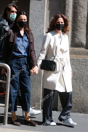 Editorial photo of Roberta Armani and Giuseppe Vicino out and about, Milan, Italy - 13 May 2021