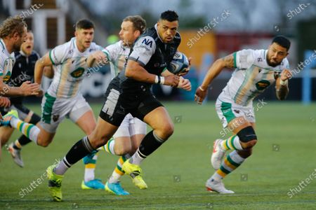 Luther Burrell of Newcastle Falcons in during the Gallagher Premiership match between Newcastle Falcons and Northampton Saints at Kingston Park, Newcastle on  17th May 2021.