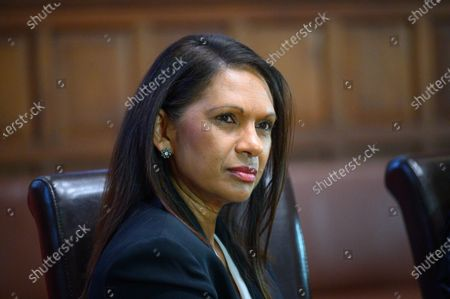 Stock Photo of Gina Miller speaks to students at the Oxford Union on the subject of 'Difficult Women'