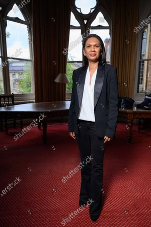 Stock Image of Gina Miller speaks to students at the Oxford Union on the subject of 'Difficult Women'