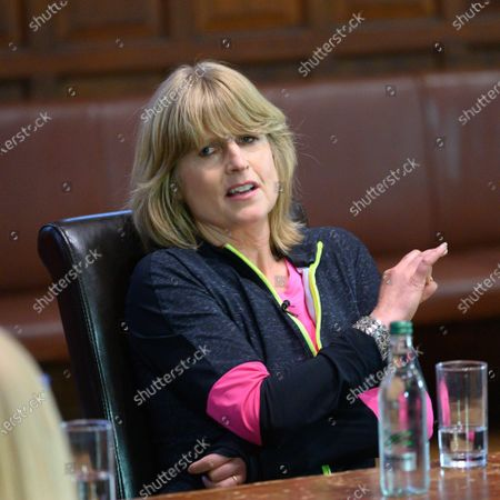 Rachel Johnson speaks to students at the Oxford Union on the subject of 'Difficult Women'