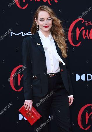 "Emma Stone arrives at the premiere of ""Cruella"" at the El Capitan Theatre, in Los Angeles"