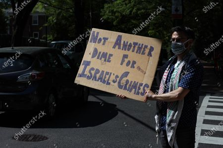 Editorial photo of Protest for Palestine at the Israeli Embassy, Washington DC, USA - 18 May 2021