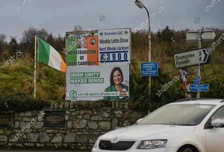 An anti-Brexit sign in the village of Jonesborough, on the border between the Republic of Ireland and Northern Ireland.On Tuesday, December 29, 2020, in Jonesborough, County Armagh, Northern Ireland, United Kingdom.