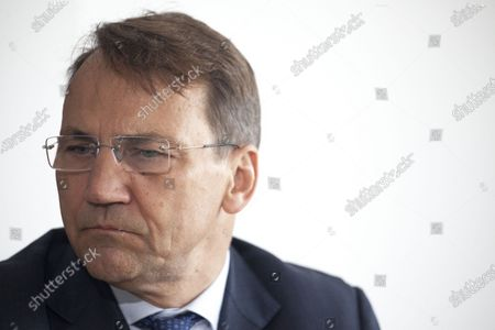 Radoslaw Sikorski seen in Warsaw, Poland  on May 18, 2021.