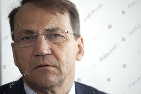 Stock Picture of Radoslaw Sikorski seen in Warsaw, Poland  on May 18, 2021.