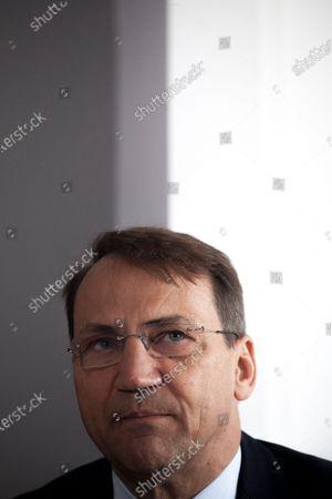 Stock Photo of Radoslaw Sikorski seen in Warsaw, Poland  on May 18, 2021.