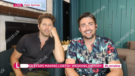 Stock Photo of Jaymes Vaughan and Jonathan Bennett