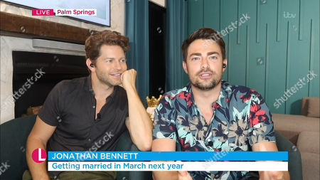 Stock Image of Jaymes Vaughan and Jonathan Bennett