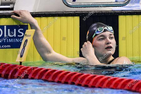 Women's 100M Breaststroke Final . Ireland's Mona McSharry after finishing 7th