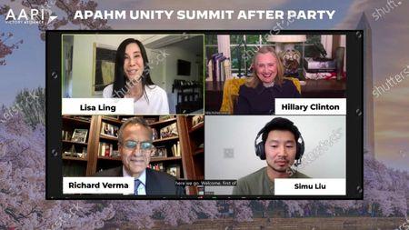 Lisa Ling, Hillary Clinton, Richard Verma and Simu Liu