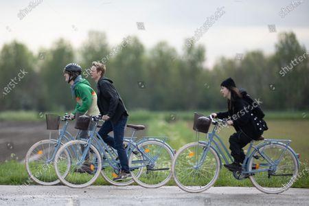 Stock Picture of Exclusive - Otto Farrant, Alex Rider - Brenock O'Connor, as Tom Harris - Marli Siu as Kyra.