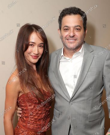 Maggie Q and David Spitz, President of Domestic Theatrical Distribution at Lionsgate