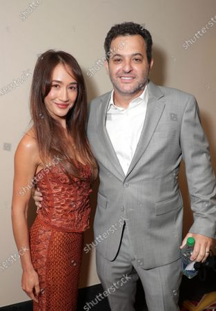 Stock Photo of Maggie Q and David Spitz, President of Domestic Theatrical Distribution at Lionsgate