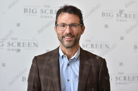 """Jonathan King arrives at The Big Screen is Back"""" media event, including ten studios convening to showcase a sampling of their summer movie releases,, at AMC Century City 15 in Los Angeles"""