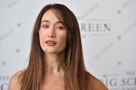 """Stock Image of Maggie Q arrives at The Big Screen is Back"""" media event, including ten studios convening to showcase a sampling of their summer movie releases,, at AMC Century City 15 in Los Angeles"""