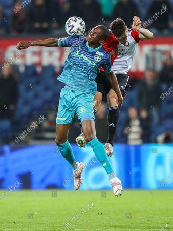 Stock Picture of Emanuel Emegha of Sparta Rotterdam, Eric Botteghin of Feyenoord