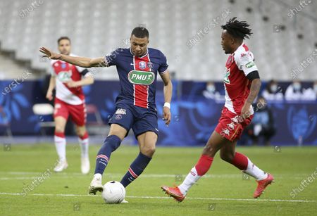 Kylian Mbappe of PSG, Gelson Martins of Monaco