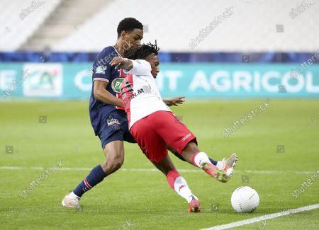 Stock Image of Gelson Martins of Monaco, Abdou Diallo of PSG (left)