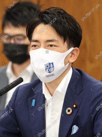 Editorial image of Japanese Environment Minister shinjiro Koizumi recovered from surgery to renove appendix, Tokyo, Japan - 20 May 2021