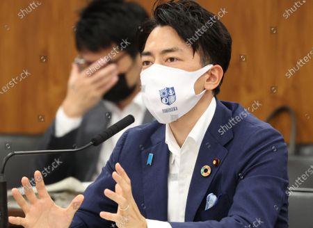 Editorial photo of Japanese Environment Minister shinjiro Koizumi recovered from surgery to renove appendix, Tokyo, Japan - 20 May 2021