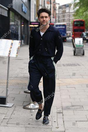Niall Horan is seen departing the Global Radio Studios