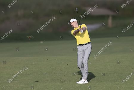 Martin Laird of Scotland hits from the fairway on the first hole during the first round for the 2021 PGA Championship golf tournament on the Ocean Course at Kiawah Island, South Carolina, USA, 20 May 2021. The PGA Championship runs from 20 May through 23 May.