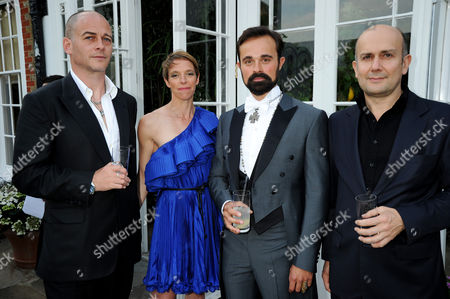 Dinos and Tiphaine Chapman, Evgeny Lebedev and Mark Quinn