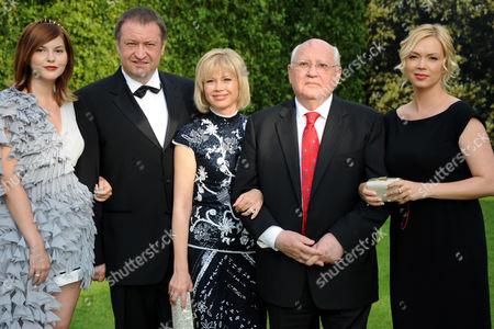 Anastasia Gorbachev, guest, Irina Virganskaya, Mikhail Gorbachev and Xenia Gorbachev