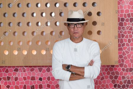 Stock Image of Chef Masaharu Morimoto poses for a photo at Momosan Wynwood, in Miami, Fla