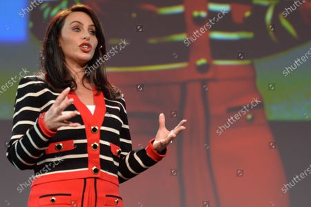 Molly Bloom, an American entrepreneur, former Poker Princess and bestselling author Of Molly's Game, seen at Pendulum Summit, World's Leading Business and Self-Empowerment Summit, in Dublin Convention Center. On 8 January 2020, in Dublin, Ireland.