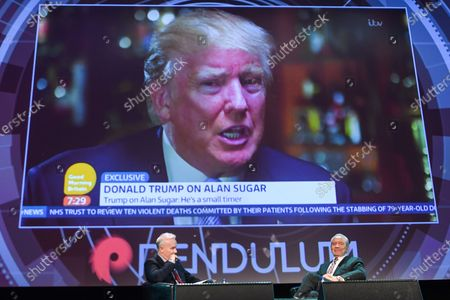 Lord Alan Sugar (Right), Business Titan And Star Of The Apprentice UK, speaks at Pendulum Summit, World's Leading Business and Self-Empowerment Summit, in Dublin Convention Center. On Thursday, January 10, 2019, in Dublin, Ireland.  On Wednesday, 8 January 2020, in Dublin, Ireland.
