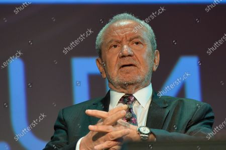 Stock Photo of Lord Alan Sugar, Business Titan And Star Of The Apprentice UK, speaks at Pendulum Summit, World's Leading Business and Self-Empowerment Summit, in Dublin Convention Center. On Thursday, January 10, 2019, in Dublin, Ireland.  On Wednesday, 8 January 2020, in Dublin, Ireland.