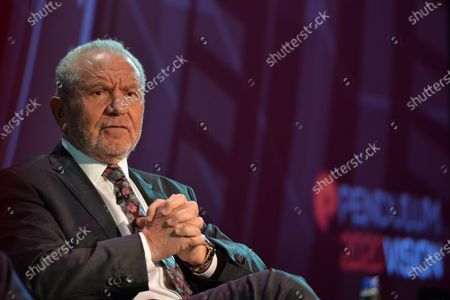 Stock Picture of Lord Alan Sugar, Business Titan And Star Of The Apprentice UK, speaks at Pendulum Summit, World's Leading Business and Self-Empowerment Summit, in Dublin Convention Center. On Thursday, January 10, 2019, in Dublin, Ireland.  On Wednesday, 8 January 2020, in Dublin, Ireland.