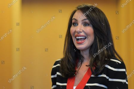Molly Bloom, an American entrepreneur, former Poker Princess and bestselling author Of Molly's Game, poses for a selfie at Pendulum Summit, World's Leading Business and Self-Empowerment Summit, in Dublin Convention Center. On 8 January 2020, in Dublin, Ireland.