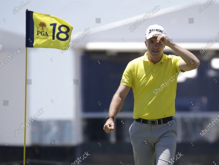 Martin Laird of Scotland walks off of the 18th green after making a bogey in the first round of the 103rd PGA Championship at Kiawah Island Golf Resort Ocean Course on Kiawah Island, South Carolina on Thursday, May 20, 2021.
