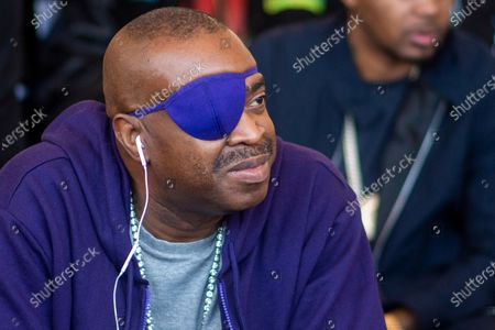 Slick Rick attends the Universal Hip Hop Museum groundbreaking ceremony, in the Bronx borough of New York