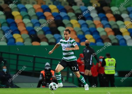 Stock Picture of Joao Pereira of Sporting CP in action during the Liga NOS match between Sporting CP and CS Maritimo at Estadio Jose Alvalade on May 19, 2021 in Lisbon, Portugal.