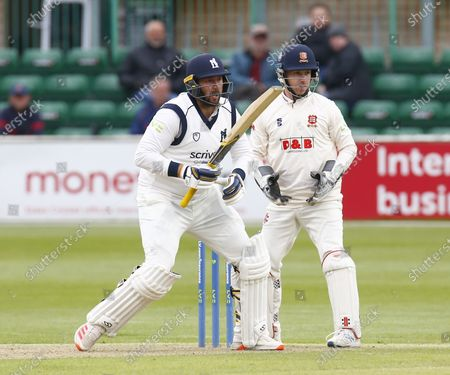 Tim Bresnan of Warwickshire CCC and Essex's Adam Wheater  during   LV Insurance County Championship Group 1 Day One of Four between Essex CCC and Warwickshire  CCC at The Cloudfm County Ground on 20th May , 2021 in Chelmsford, England