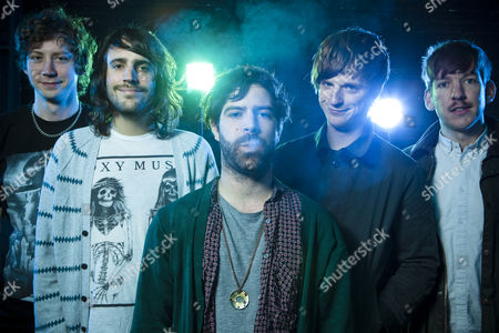 Foals - Walter Gervers, Jimmy Smith, Yannis Philippakis, Jack Bevan and Edwin Congreave