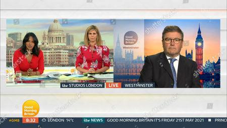 Editorial image of 'Good Morning Britain' TV Show, London, UK - 21 May 2021