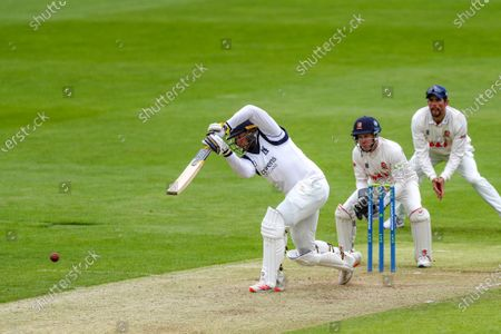 Warwickshire's Tim Bresnan hits out during the LV= County Championship match between Essex and Warwickshire County Cricket Club at the Cloudfm County Ground,, Chelmsford on Thursday 20th May 2021.